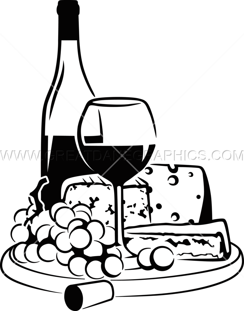Wine bottles drawing at. Cheese clipart winery