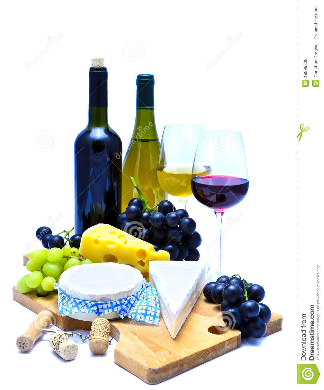 Wine and board stock. Cheese clipart winery