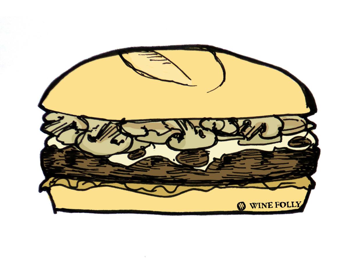 Burger and wine pairings. Cheeseburger clipart bacon cheeseburger
