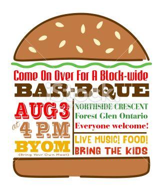 Hamburger invitation template on. Cheeseburger clipart bbq burger