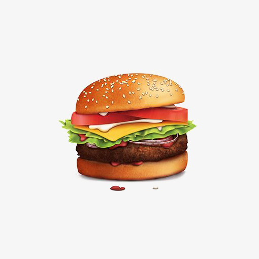 Beef hamburg illustration vegetables. Cheeseburger clipart bbq burger