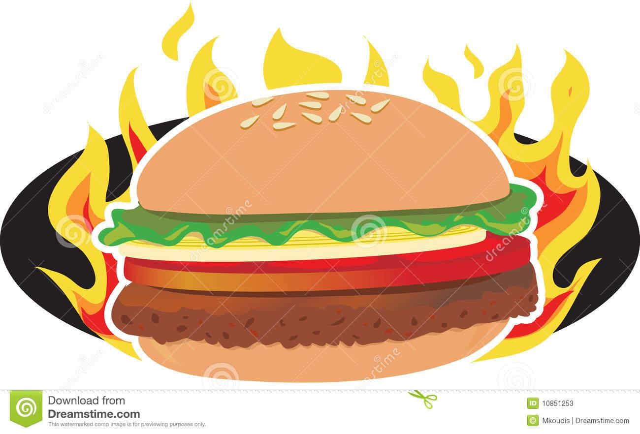 Hamburger . Cheeseburger clipart bbq burger
