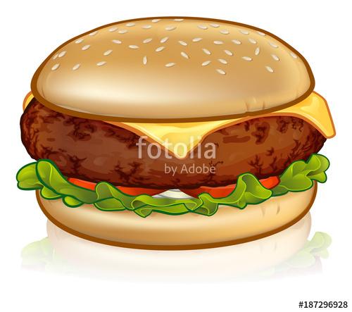 Cheeseburger clipart berger. Cartoon cheese burger stock