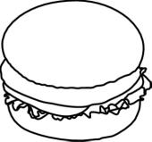 Spaghetti panda free images. Cheeseburger clipart black and white