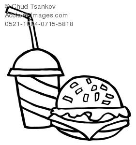 Cheeseburger clipart black and white. Image of hamburger with