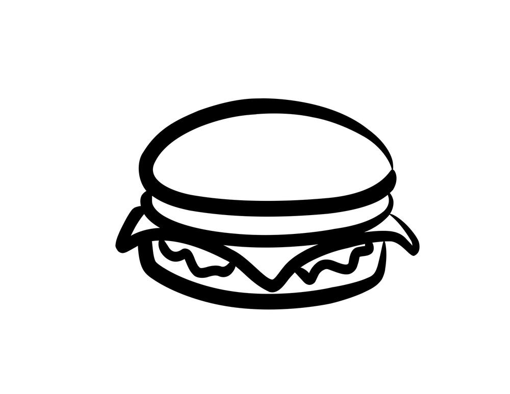 Menu moo burger jpg. Cheeseburger clipart black and white
