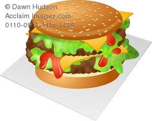 Cheeseburger clipart burge. Delicious double cheese burger