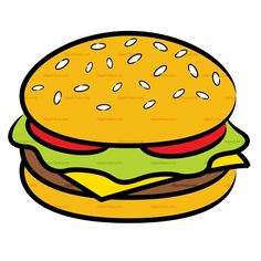 Cheeseburger clipart cartoon.  of a black