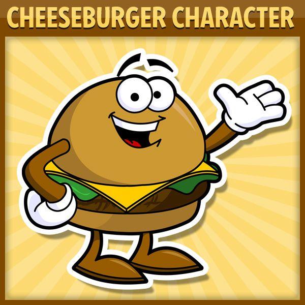 Royalty free character cartoons. Cheeseburger clipart cartoon