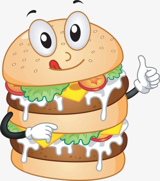 Cheeseburger clipart cartoon. Hamburger slobber png image