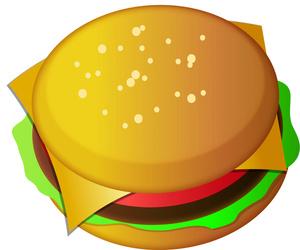 Cheeseburger clipart cheesburger. This panda free images