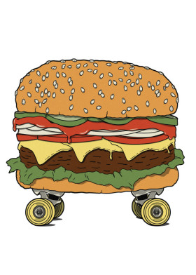 Cheeseburger clipart cheese burger. Appreciation by popculart displate