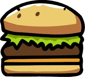 Hamburger scribblenauts wiki fandom. Cheeseburger clipart cheese burger