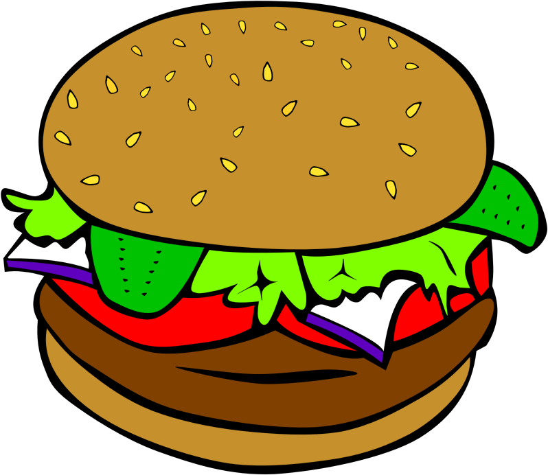 Fast food dinner hamburger. Luncheon clipart lunch bunch