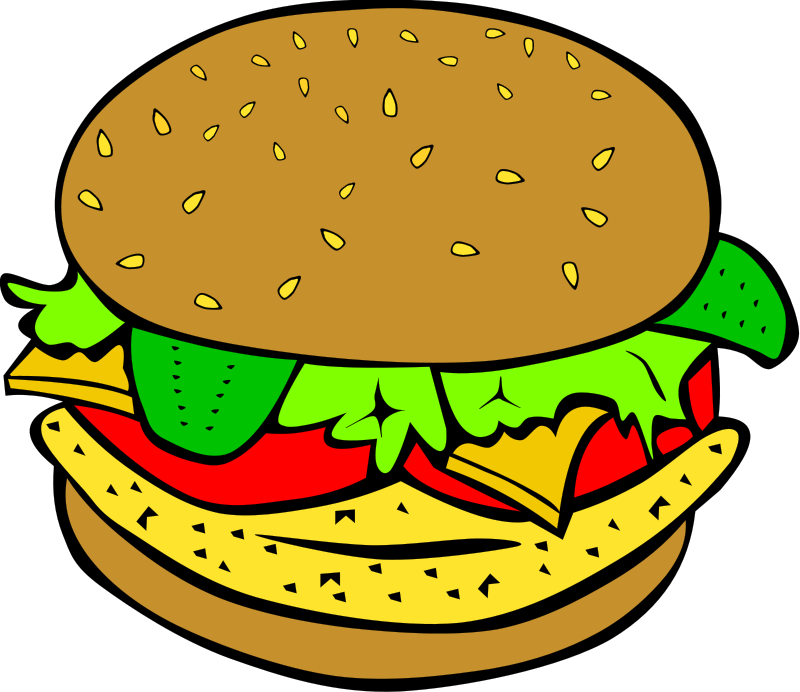 Food clipart. Clip art free cheeseburger