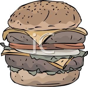 A deluxe royalty free. Cheeseburger clipart double cheeseburger