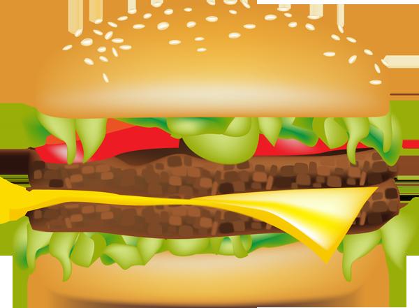 Cheeseburger clipart double cheeseburger. Mcdonald s hamburger big