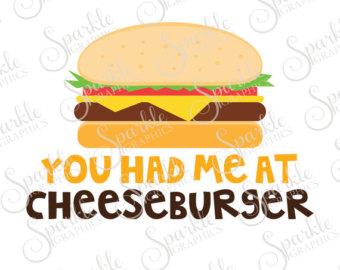 Cheeseburger clipart face. Svg etsy you had