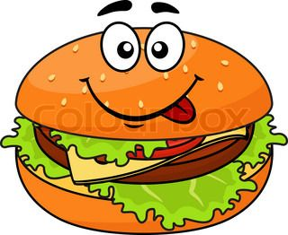 Cheeseburger clipart face. Luxury cartoon with a