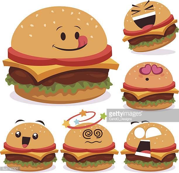 Cheeseburger clipart face. Hamburger