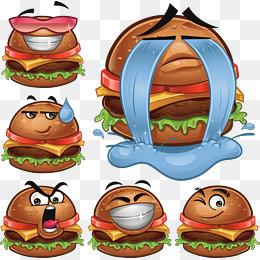 Cartoon hamburger png images. Cheeseburger clipart face