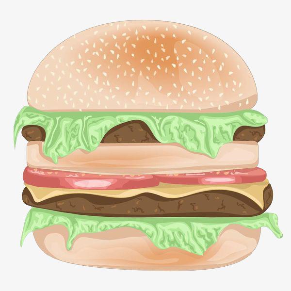 Burger clipart chicken meat. Double gourmet cartoon food