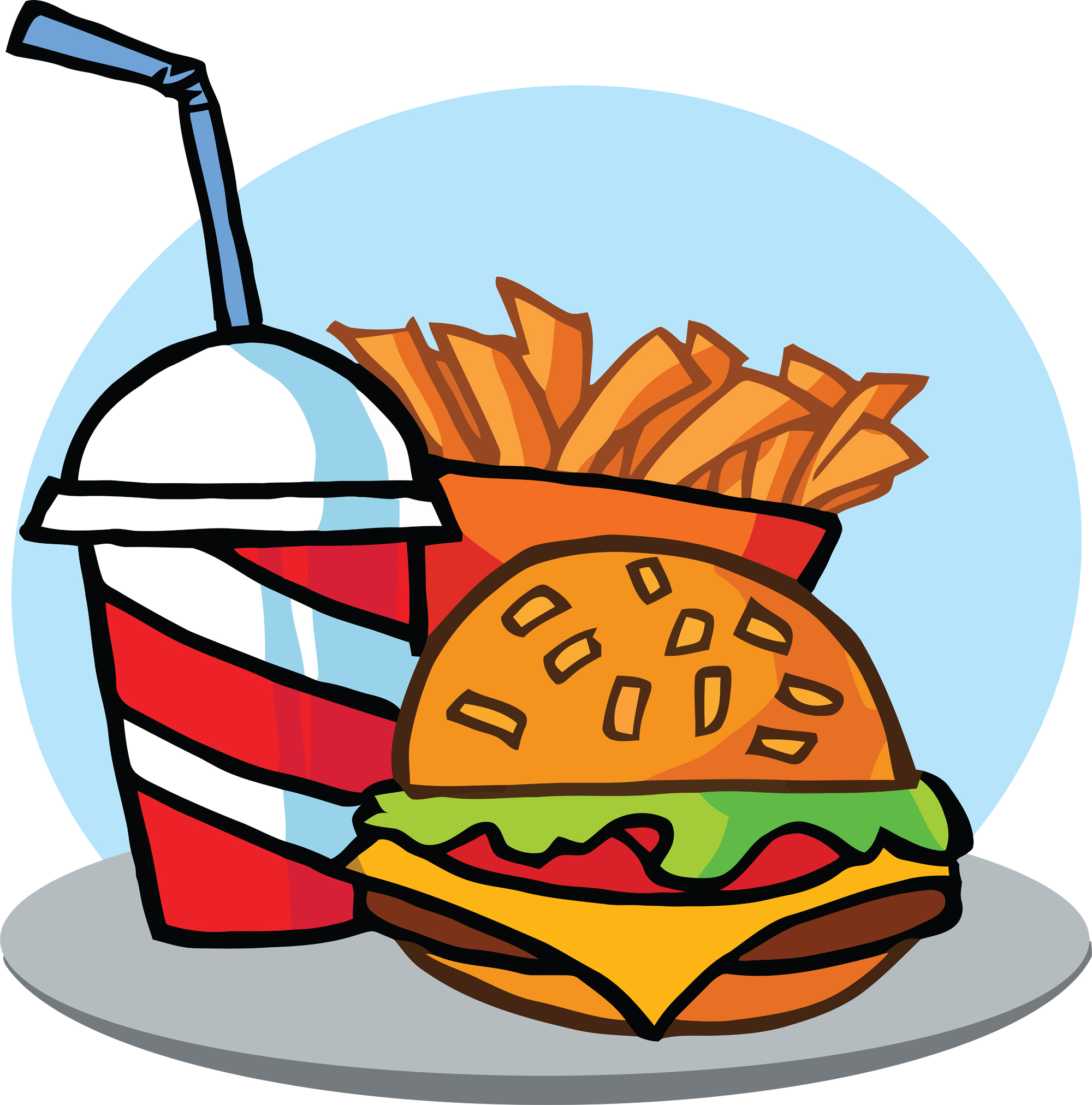 Fat clipart different food. Fast