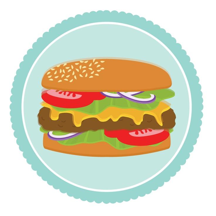 Cheeseburger grilled hamburger