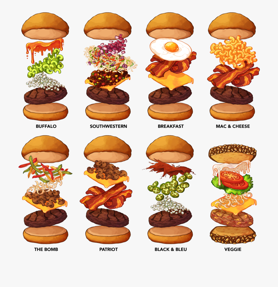 Cheeseburger clipart mini burger. Hamburger specialty burgers cliparts
