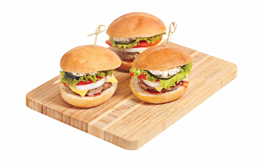Cheeseburger clipart mini burger. Centra burgers with toppers