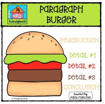 Burger clipart digital. Paragraph p clips trioriginals