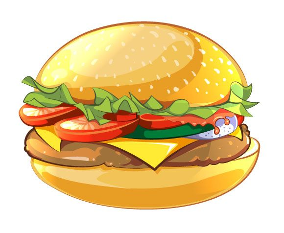 Burger clipart simple. How to create a