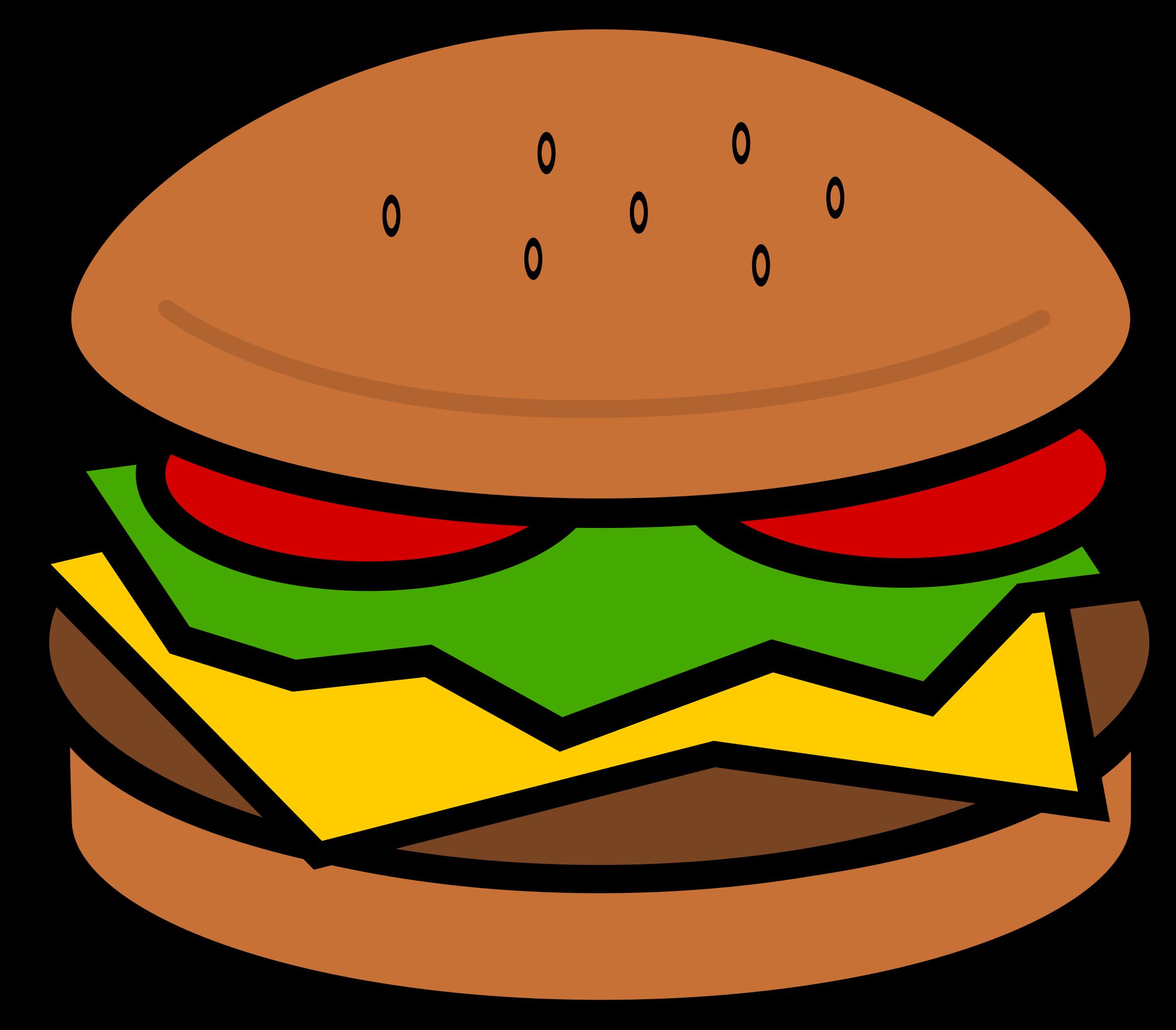. Cheeseburger clipart small hamburger