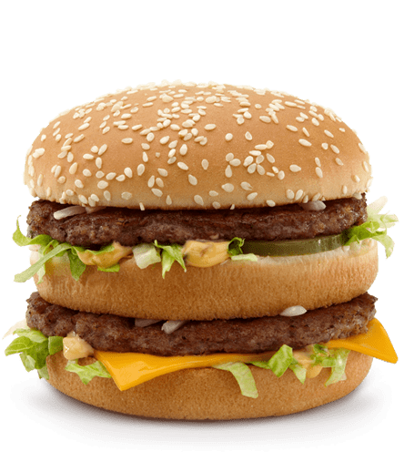 Mcdonald s big mac. Cheeseburger clipart transparent background