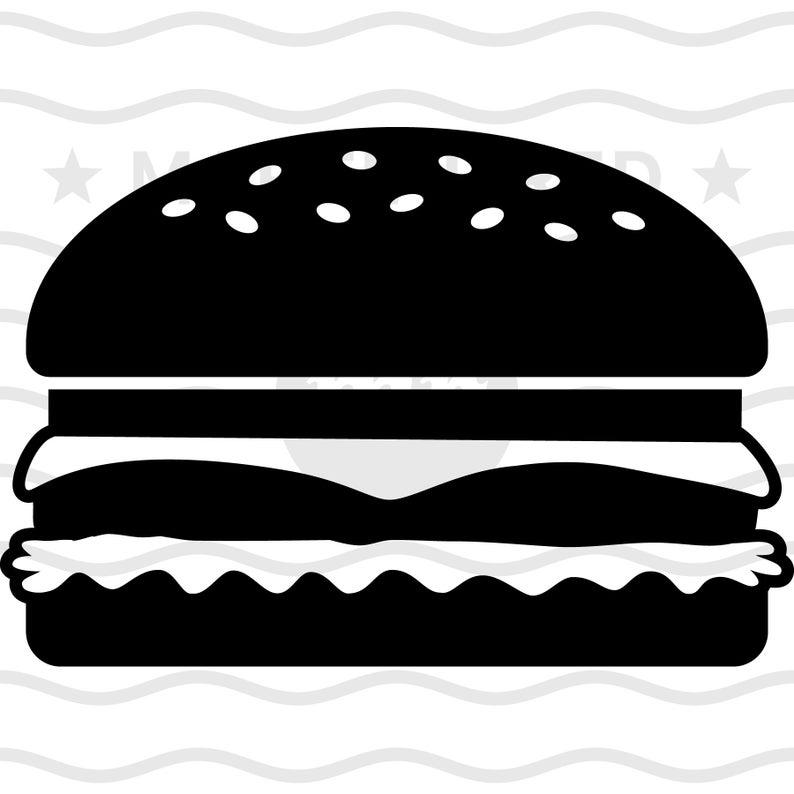 Cheeseburger clipart vector. Svg hamburger burger fast