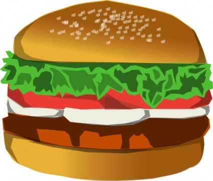 Cheeseburger clipart vector. Free pictures of cheese