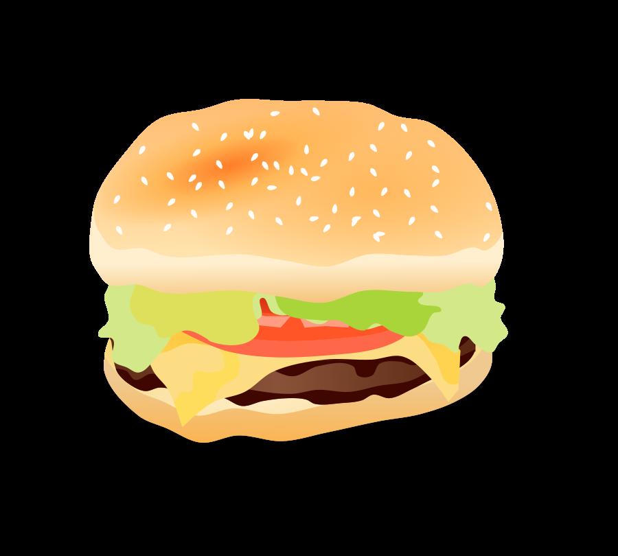 Cheeseburger clipart vector. Cheese burger clip art