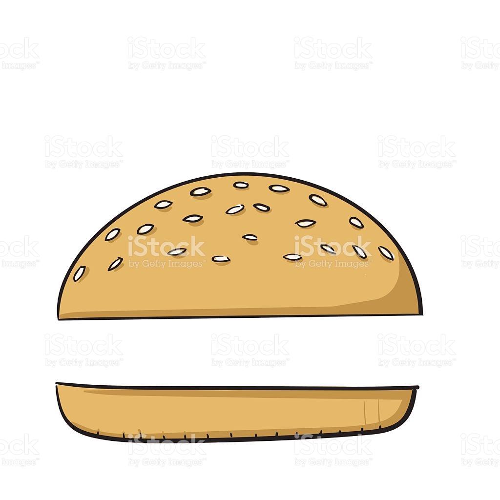 Hamburger burger bun pencil. Cheeseburger clipart vector