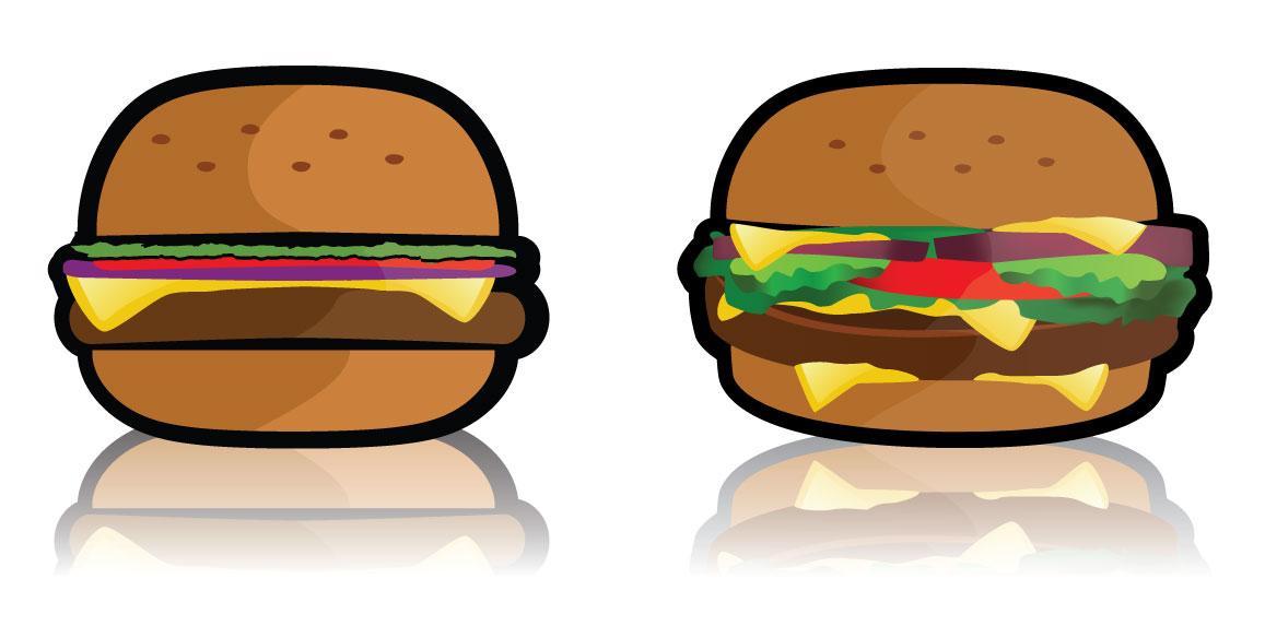 Free hamburger clip art. Cheeseburger clipart vector