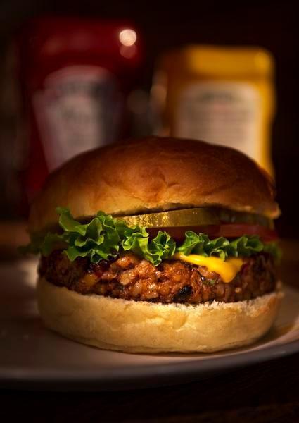 Cheeseburger clipart vegetable burger. Mooove over beef veggie
