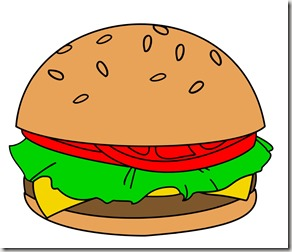 Burgers stepping into the. Cheeseburger clipart veggie burger