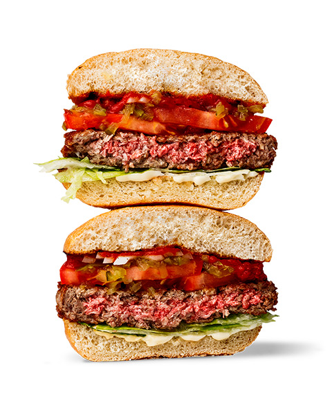 Cheeseburger clipart veggie burger. Impossible foods macaque in