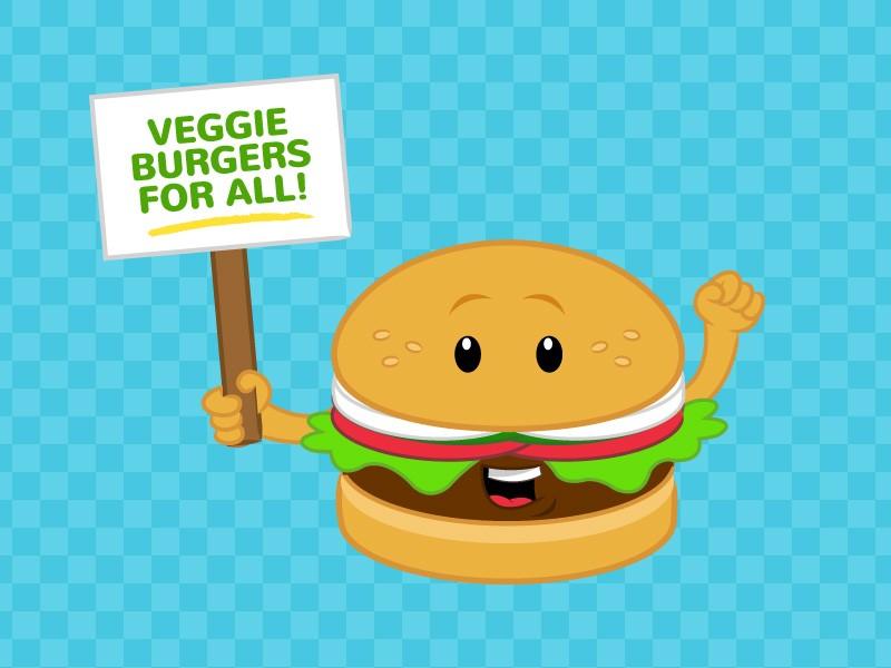 Cheeseburger clipart veggie burger. Get a save animals