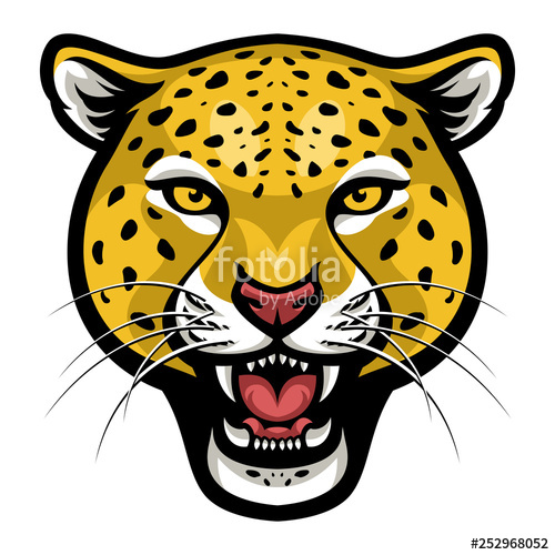 Face vector stock image. Cheetah clipart angry