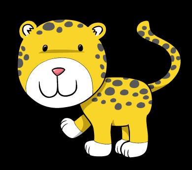 Cheetah clipart cheetah cub. Smiling wall decal wallmonkeys