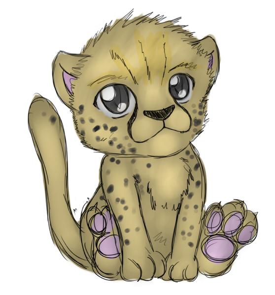 Cheetah clipart cheetah cub. By zephir zophar on