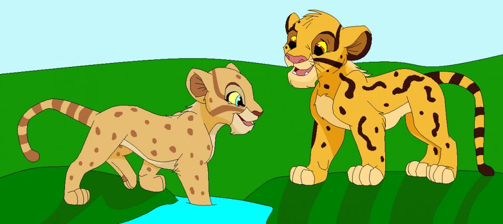 Cheetah clipart cheetah cub. Fanimage sofi cubs playing