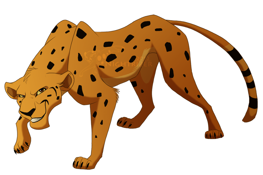 Tlk cheetah by nightrizer. Clipart cat king