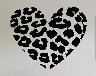 Hearts clipart leopard print.  collection of heart