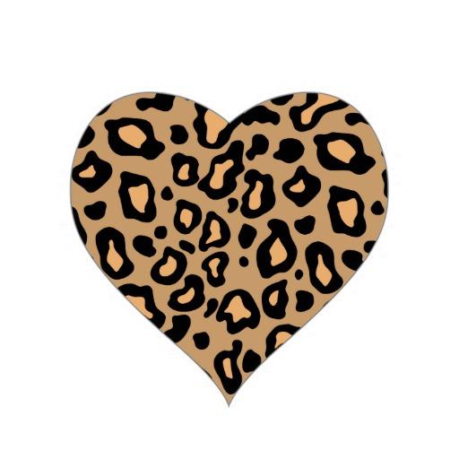 Hearts clipart leopard print. Cheetah heart cliparts zone